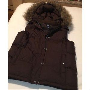 GAP Jackets & Coats - Gap down hooded vest